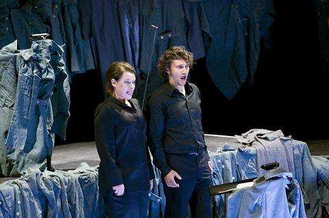 Nina Stemme (Leonore) and Jonas Kaufmann (Florestan)