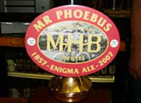 Mr Phoebus ale on tap, named after Elgar's bicycle