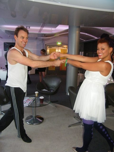 Jason Donovan Twirling Gemma Around