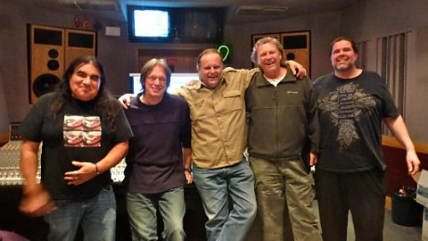 Walter Trout in session: The band with producer Paul Long