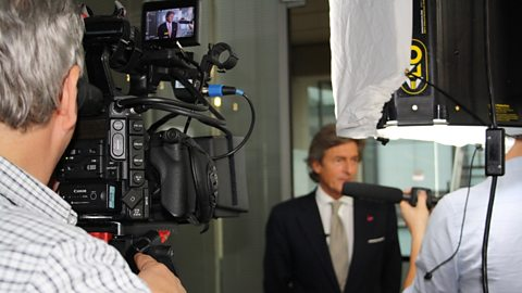 Filming with Nigel Havers