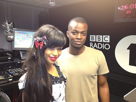 Sarah-Jane with George the Poet 