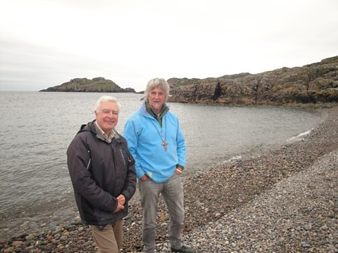 Bishop Stephen & John Bell, Columba's Bay