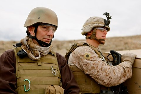 Mark Urban with the US Marines in Helmand