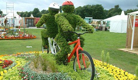 Bedding for Bikers at RHS Tatton Flower Show