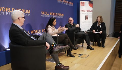 The stage at the Skoll World Forum