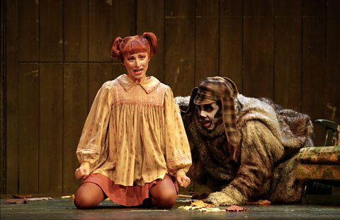Rosemary Joshua (Bystrouska, the Cunning Little Vixen) & Ernesto Panariello (Lapak, the dog)