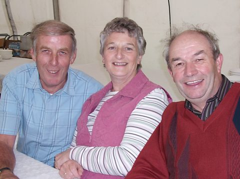 Bobby Acheson, Maureen and John McAnee from Ayrshire