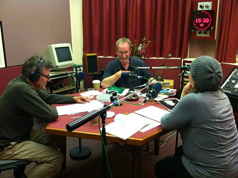 Studio recording of Great Lives. Matthew Parris, Bill Paterson and Susie Maguire