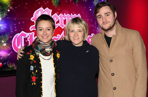 Lucy from NME with Edith and Aled from Kids in Glass Houses