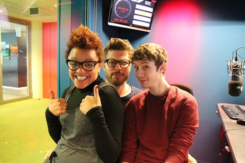Gemma, Rick Edwards and Matt Edmondson