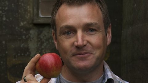 Chris with cider apple