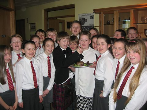 Pupils from Ballydown Primary School