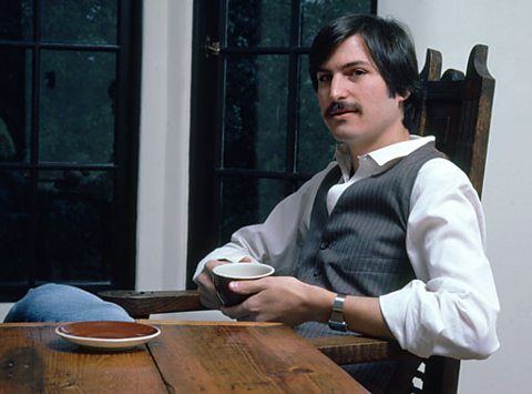 Steve Jobs relaxes in 1982
