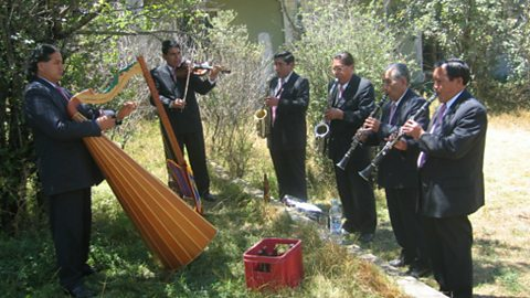 Orquesta Semblanza Huanca, at the Cocharcas Festival in Huancayo
