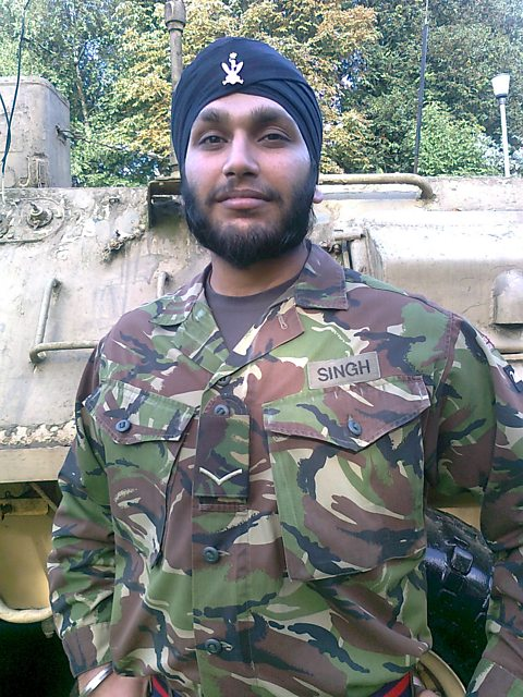 Lance Corporal Simran Singh currently at Game Cocks Barracks
