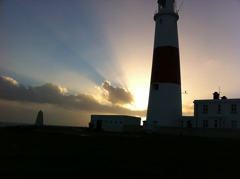 A winter's evening at Portland Bill Lighthouse, Dorset
