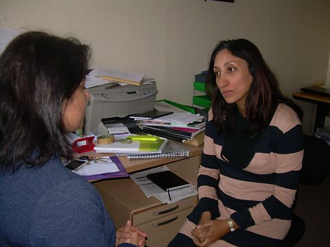 Shazia interviewing 'Renu' who claims she's she faces threats.