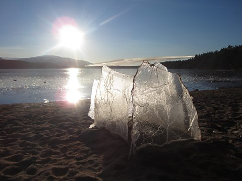 Ice table at Loch Morlich