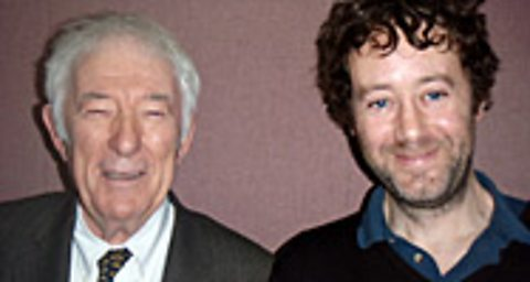 Seamus Heaney (left) with Lawrence Pollard