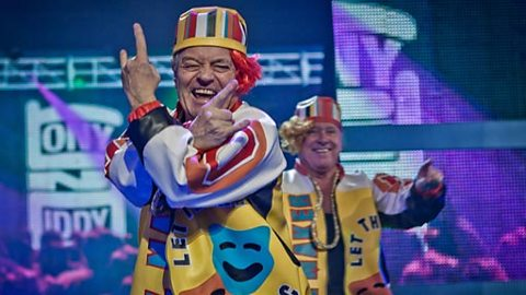 Tony Blackburn and David Hamilton perform Salt & Pepa's Push It.