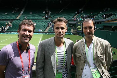 Pat Cash, Richard Bacon and Alistair McGowan