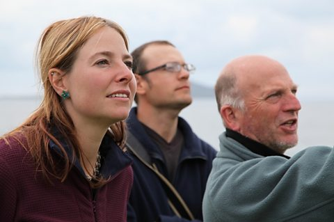 Dr Alice Roberts with Prof. John Hunter and Kevin Colls