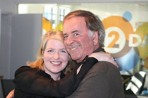 Clare Teal with Sir Terry