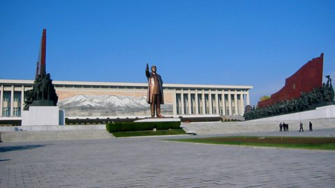 Statue of the Great Leader in Pyongyang