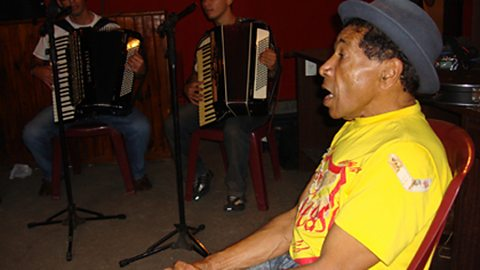 Azulao, A Forro singer in the town of Caruaru