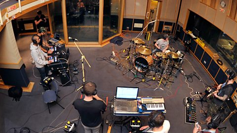 True Tiger at Maida Vale recording their session for MistaJam