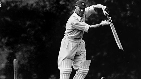 Jack Hobbs batting in 1936