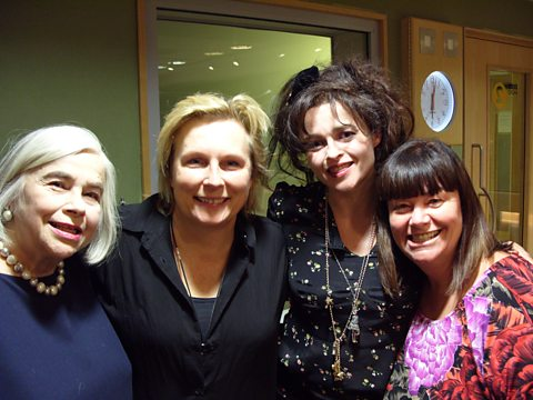 Dawn and Jennifer with Helena Bonham Carter and her Mum Elena