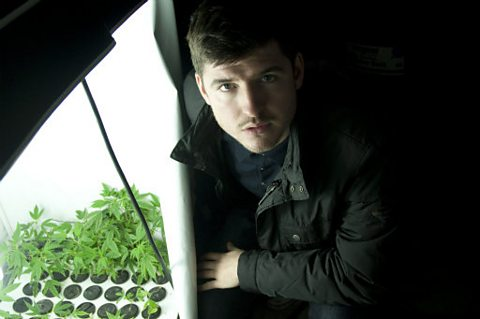 James finds cannabis seedlings after police bust