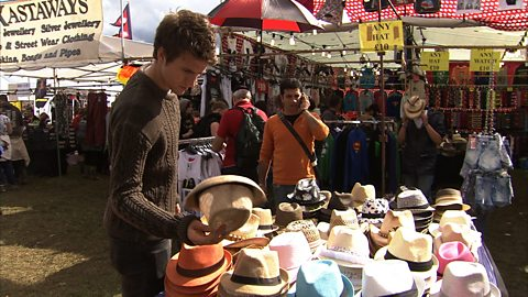 Photo: Greg James browsing hats