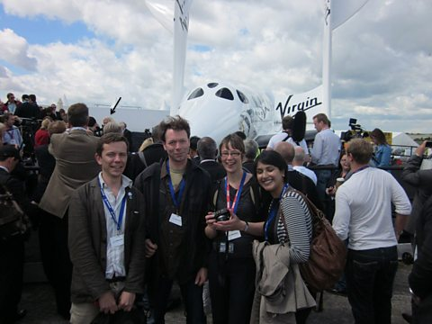 The Material World team with Richard  Branson (Arrowed)