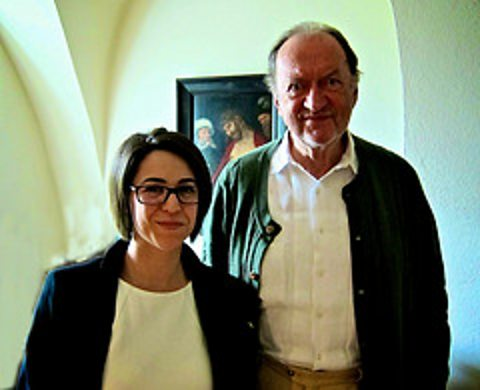 Suzy Klein and Nikolaus Harnoncourt at his home in Austria