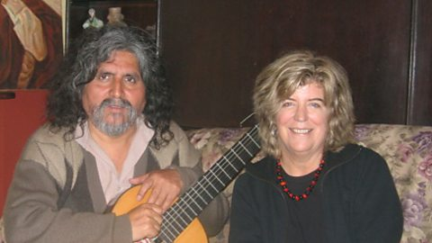 Lucy with the Andean singer Manuelcha Prado at his home in Lima