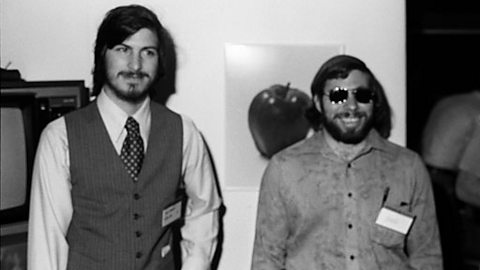 Steve Jobs and Steve Wozniak in 1977