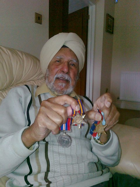 Gurmuk Singh Kohli now aged 85yrs old, he fought in WW2 in Burma.