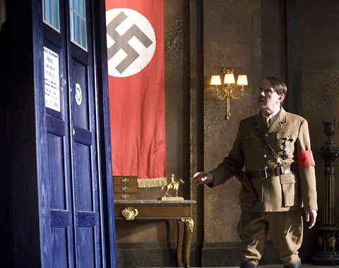 Hitler takes a look at the TARDIS