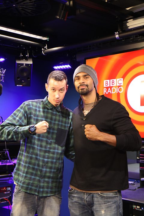 Nick Bright with boxer David Haye