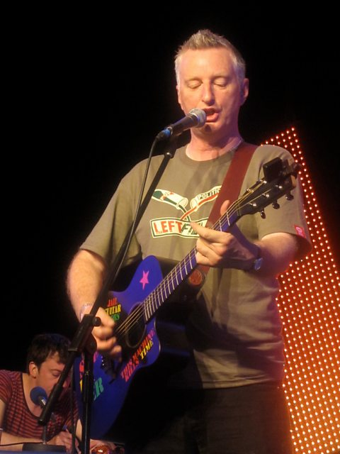 Billy Bragg performs