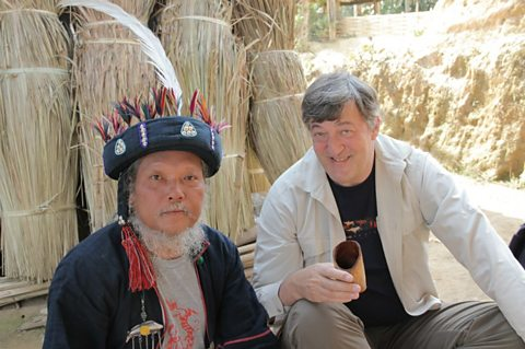 Stephen Fry and Adju (Akha Tribe)