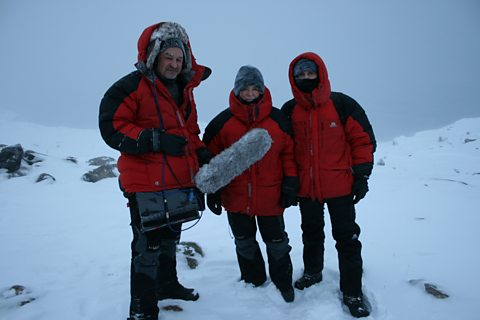 Recording in Greenland