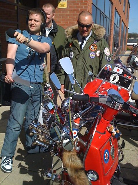 Richard Spurr with the Nottingham Knights Scooter Club