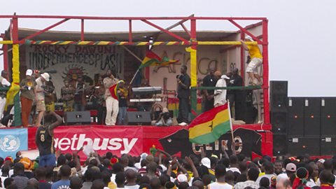 Batman Samini performs
