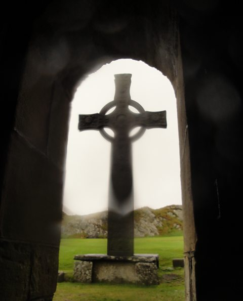 St John's Cross in the rain