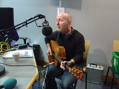 Kieran Goss playing live on BBC Leeds