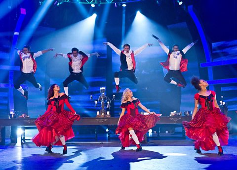 The dancers take to the air!